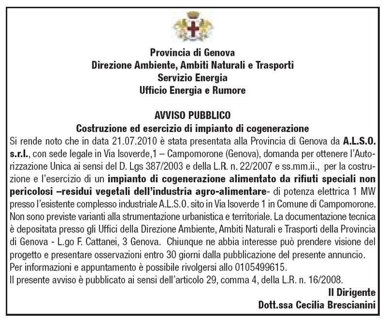 Campomorone - Avviso Pubblico